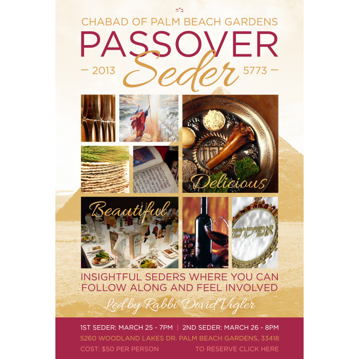 Pesach Seder Flyer & Web Graphic (v2)