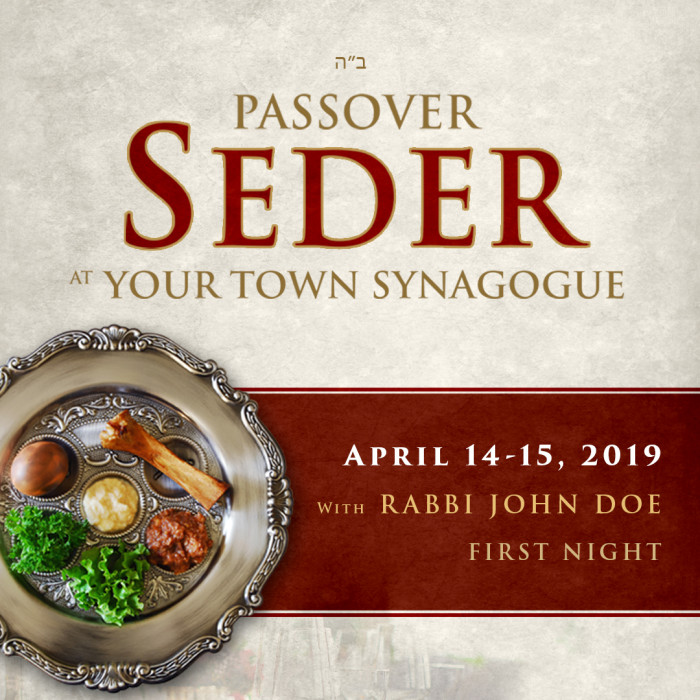 Passover Seder #1 Social Media