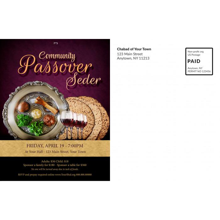 Passover Seder #4 Postcard Back