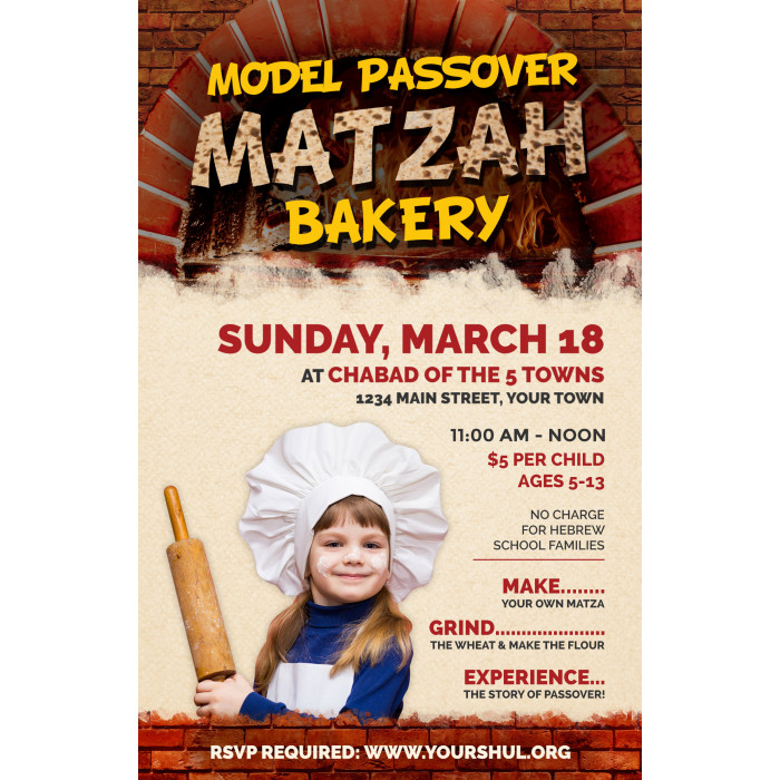 Model Matzah Bakery Postcard Front
