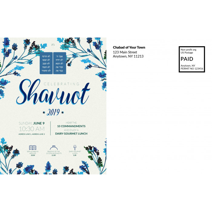 Shavuot Postcard Back