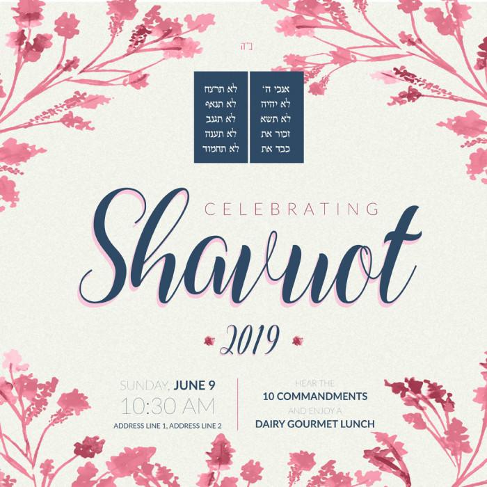 Shavuot 2 social media