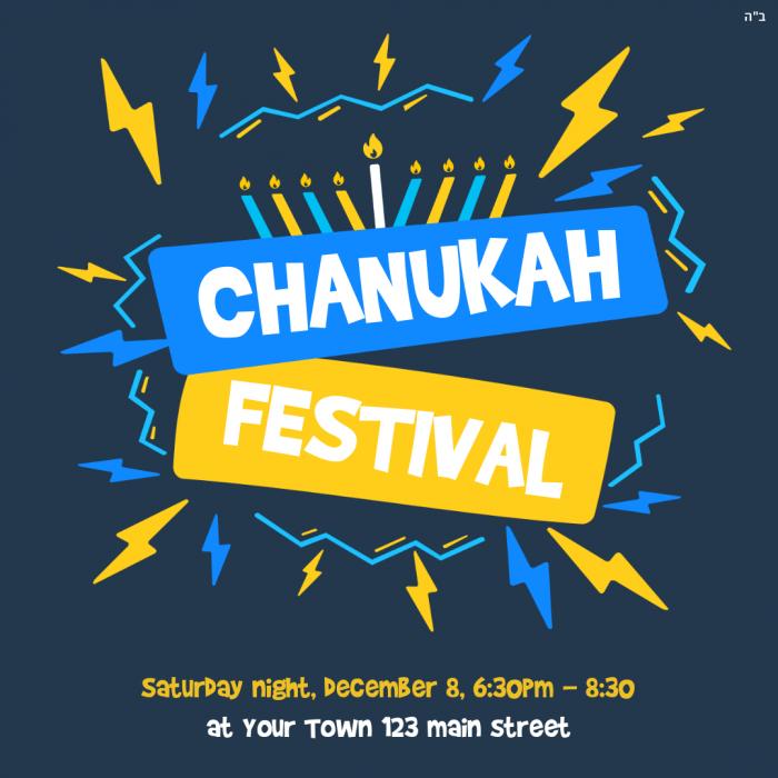 Chanukah Festival Blue Social Media