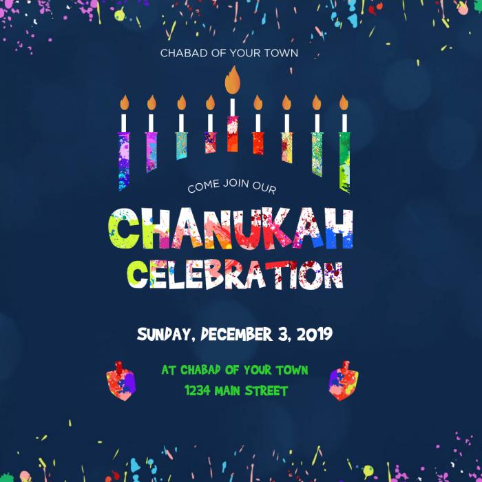 Chanukah Celebration Social Media